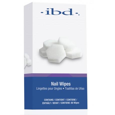 IBD Nail Wipes 80szt gąbeczki do przemywania IBD